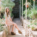 desert senior photos, Arizona, green house, succulents, ethereal