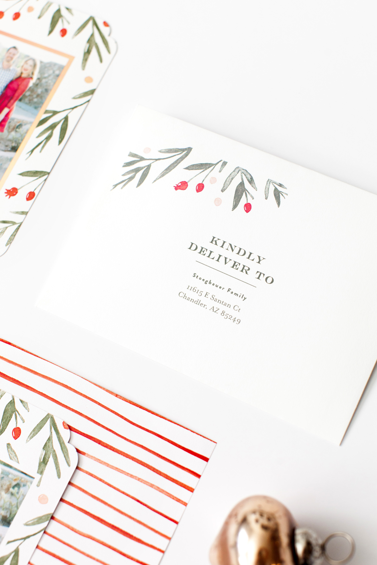 minted winter harvest family holiday card ten22 studio
