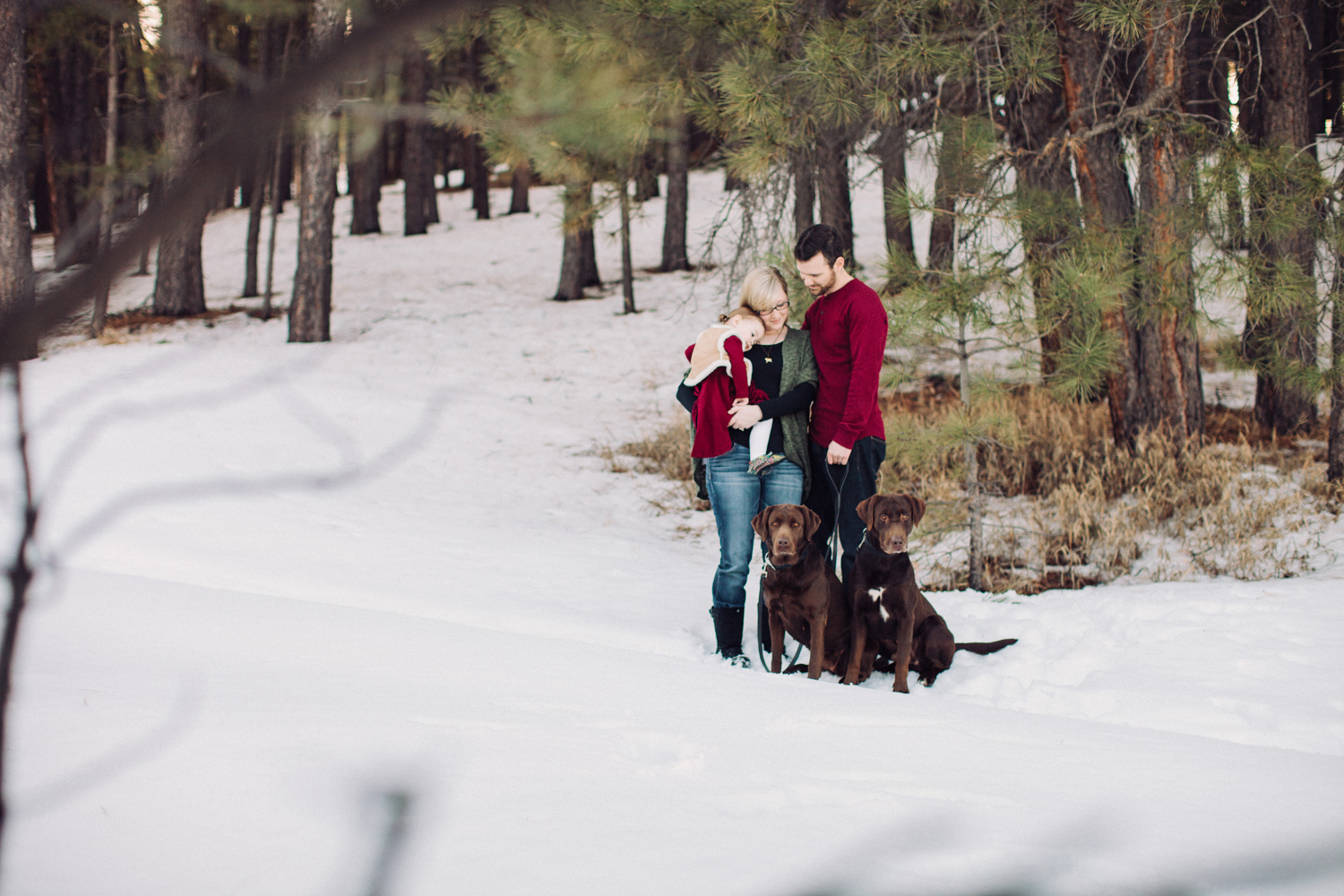 Sweet Little Toddler Snow Family Photography
